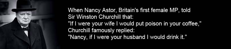 Winston Churchill and Nancy Astor Coffee Quote