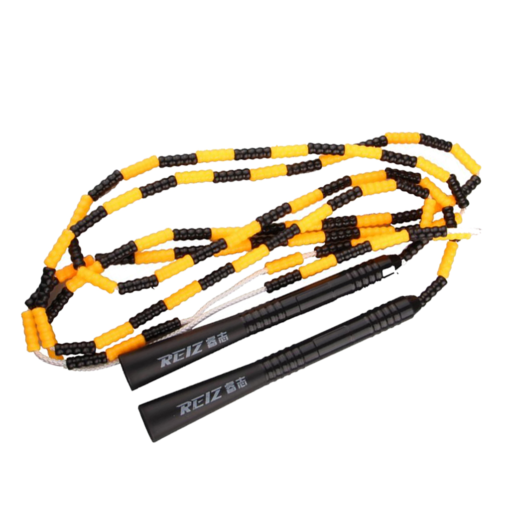 Beaded Jump Rope 280cm Fitness Skipping Rope for Kids Men and Women Beginners Indoor Outdoor Exercise Adjustable & Lightweight