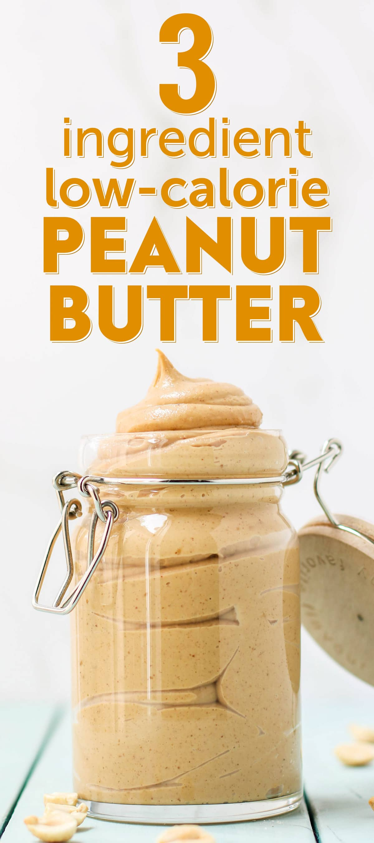 3 ingredient Low Calorie Peanut Butter