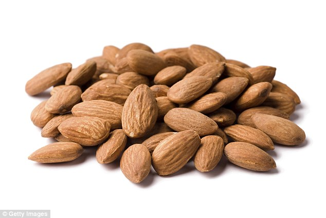 You need to eat just ten almonds to get your daily requirement of calcium (700mg)