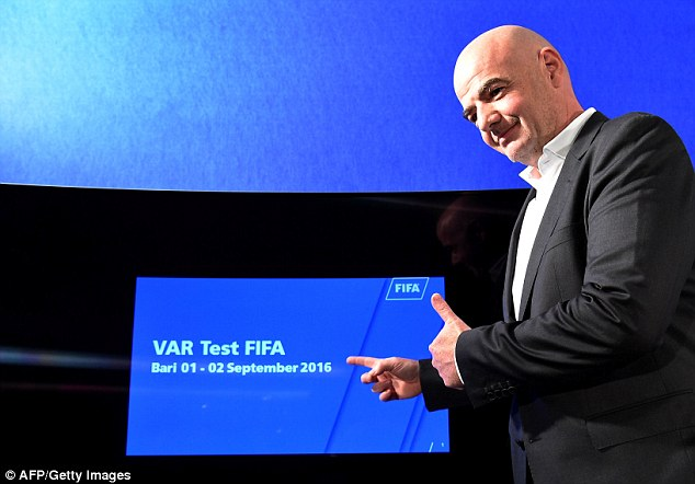 Infantino hopes the new technology is used when Russia host the World Cup in 2018