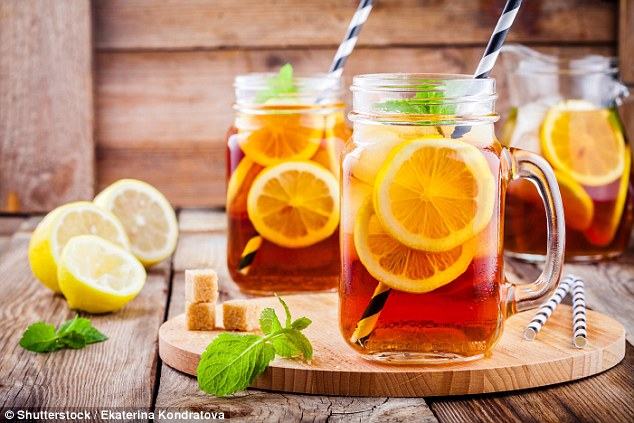 Store-bought iced tea is also full of sugar, with a bottle containing about 116 calories