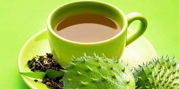 soursop leaves tea and fruits