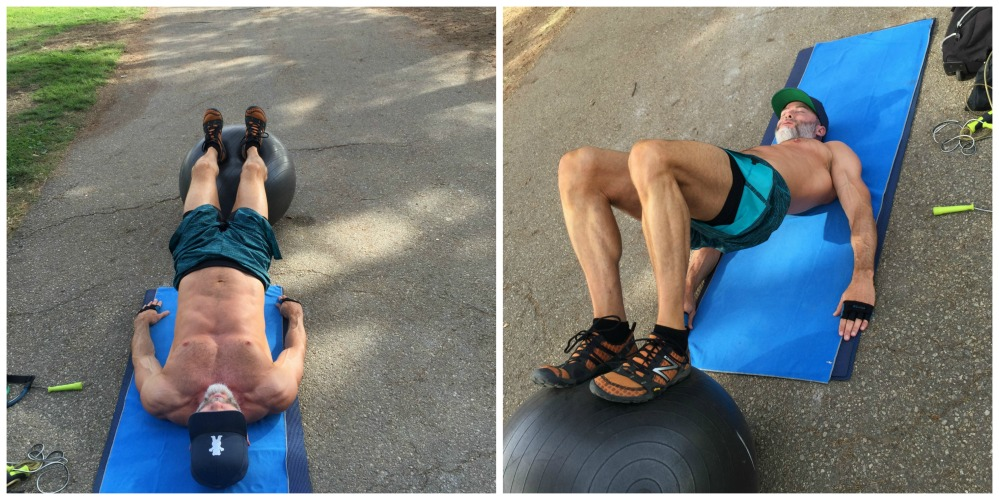 glutes hamstring curls exercise ball