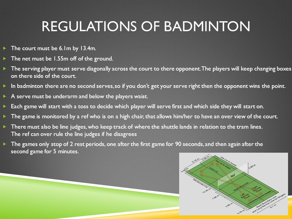Regulations of badminton