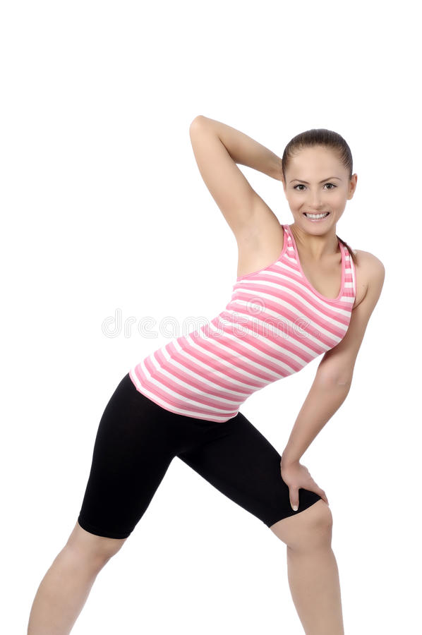 Happy fitness dance class woman dancing royalty free stock image