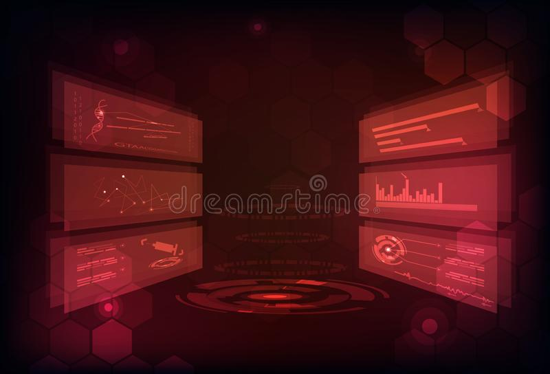 Technology abstract background digital futuristic infographic ga royalty free illustration