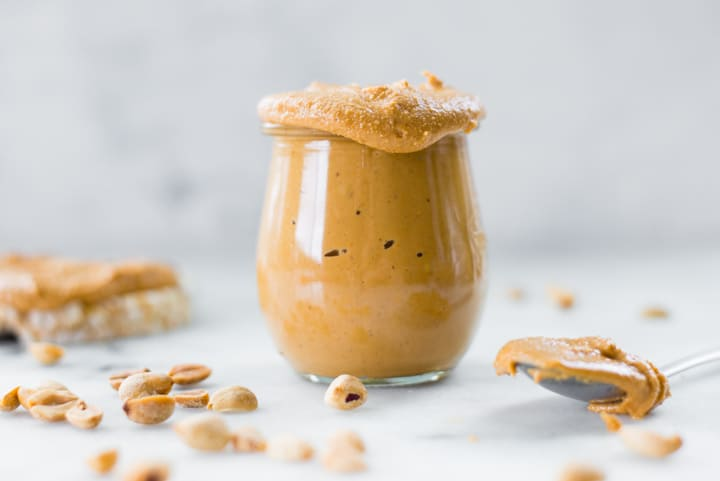 To make this irresistible honey roasted peanut butter, you need a food processor and just a few minutes of time. It takes just 3 ingredients, is super easy, and absolutely delicious!
