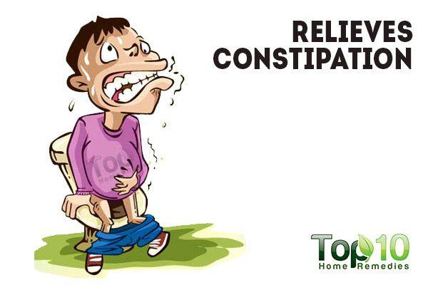 drinking warm water relieves constipation